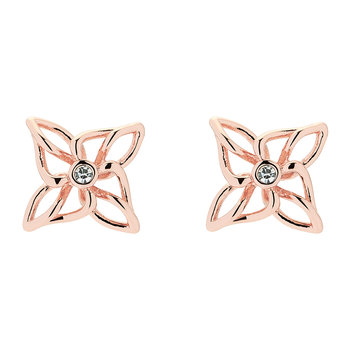 Carmena Crystal Breeze Earrings - Rose Gold/Crystal