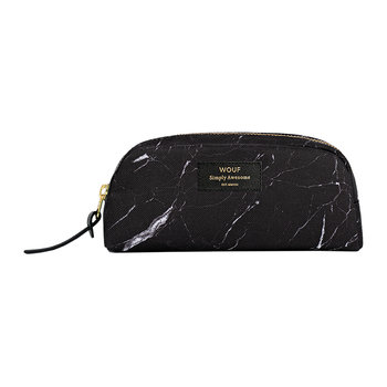 Marble Cosmetic Bag - Black
