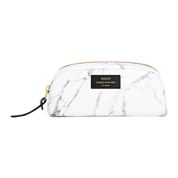 Marble Cosmetic Bag - White