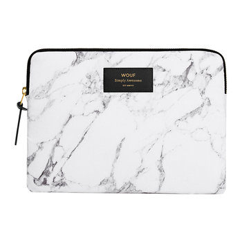 Marble iPad Case - White