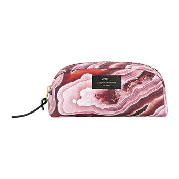 Pink Mineral Cosmetic Bag