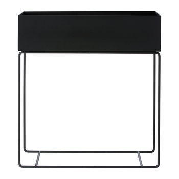 Raised Metal Plant Box - Black