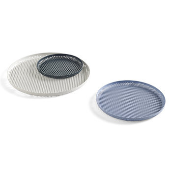 Perforated Aluminium Tray - Large - Soft Grey