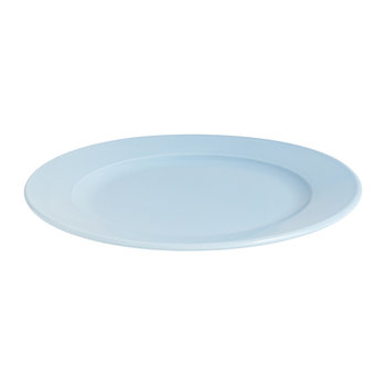Porcelain Rainbow Plate - Medium - Light Blue