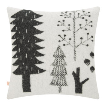 Forest Woven Cushion - Black/White - 48x48cm
