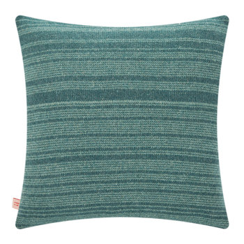 Knitted Dove Cushion - Green