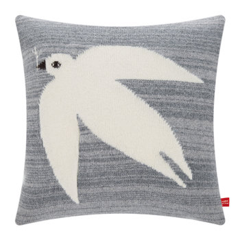 Knitted Dove Pillow - Grey