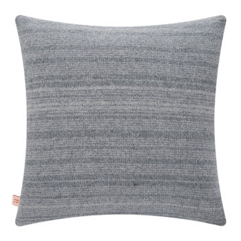 Knitted Dove Cushion - Grey
