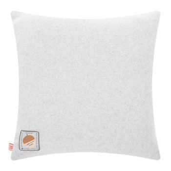 Knitted Flower Pillow - Grey