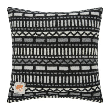 Knitted Geometric Pillow - Black