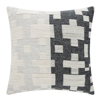 Pennan Woven Reversible Cushion - Black/White - 48x48cm