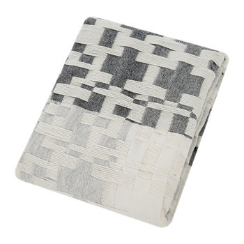 Pennan Woven Throw/Blanket - Black/White