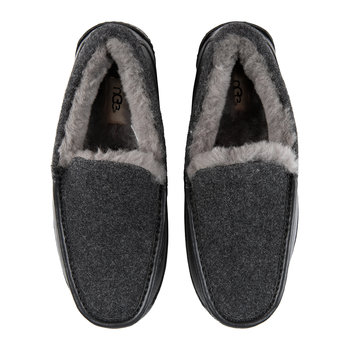 Men's Ascot Novelty Slippers - Black