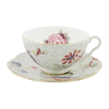 Cuckoo Teacup and Saucer - Green