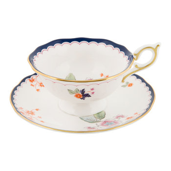 Wonderlust Teacup & Saucer - Jasmine Bloom