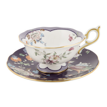 Wonderlust Teacup & Saucer - Midnight Garden