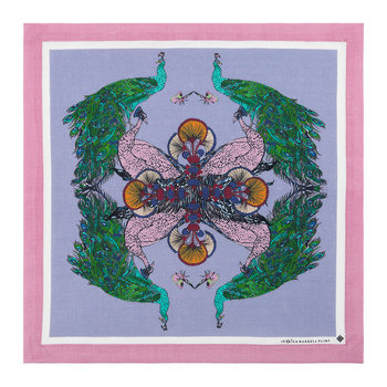 Linen Napkin - Set of 6 - Magic Garden - Peacock
