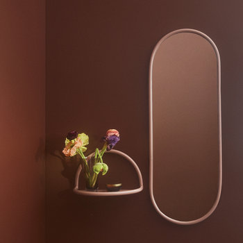 Angui Oval Mirror - 29x78cm - Bordeaux