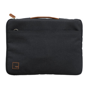 aSleeve Laptop Case - PU Leather/Canvas - Anthracite