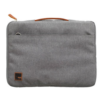 aSleeve Laptop Case - PU Leather/Canvas - Light Grey