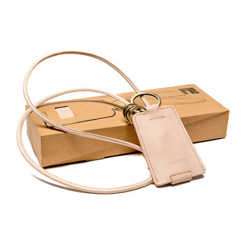 cChain Leather Charging Cable with Keyring - Nude