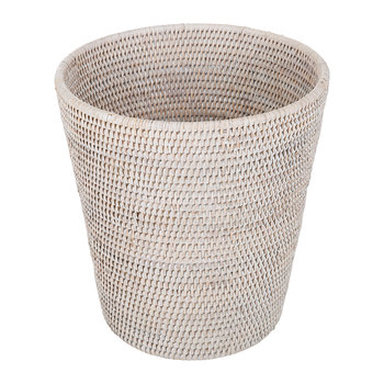 Basket PK Trash Can - Round - Light Rattan