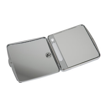 TS 1 Cosmetic Mirror - Illuminated Chrome - 7x Magnification