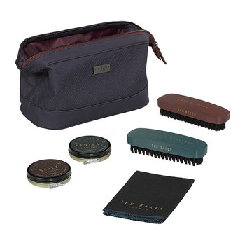 Shoe Shine Kit - Blue Cadet