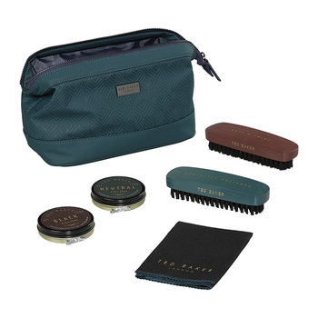 Shoe Shine Kit - Teal