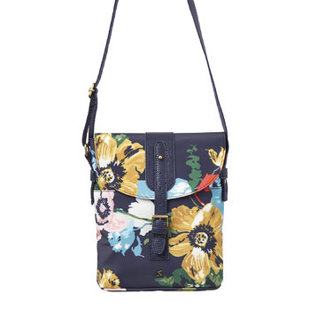 Tourer Canvas Cross-Body Bag - French Navy Posy