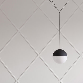 String Ceiling Light - Sphere Head - Black