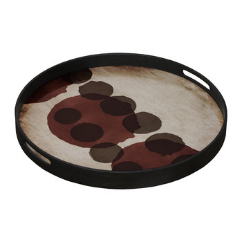 Pinot Layered Dots Glass Tray - Round - Small