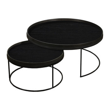 Round Tray Table - Set of 2 - Extra Large - Low