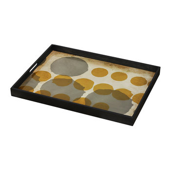 Sienna Layered Dots Glass Tray - Rectangular - Large