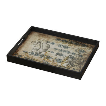 Wildflowers Glass Tray - Rectangular - Large