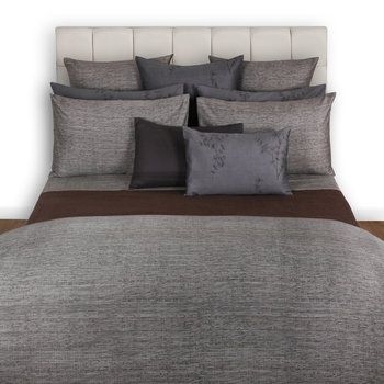 Acacia Grey Textured Duvet Cover