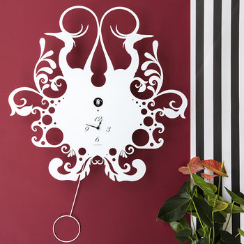 Back Nature Wall Clock - White