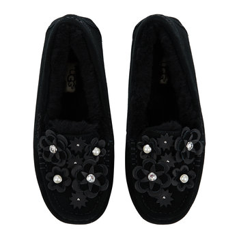 Women's Ansley Petal Slippers - Black