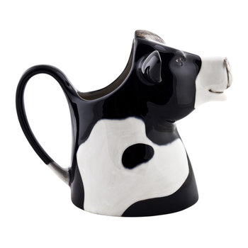 Ceramic Friesian Cow Pitcher