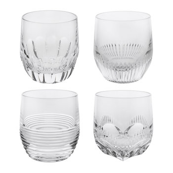 Mixology Glass Tumblers - Set of 4