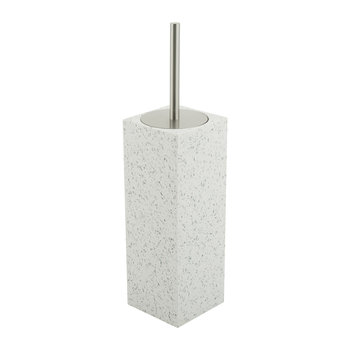 Quartz Toilet Brush Holder - White