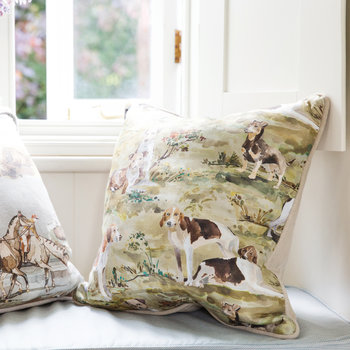 Mulberry Hounds Linen Pillow - 45x45cm