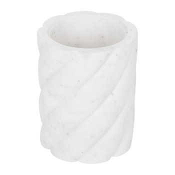 White Marble Toothbrush Holder