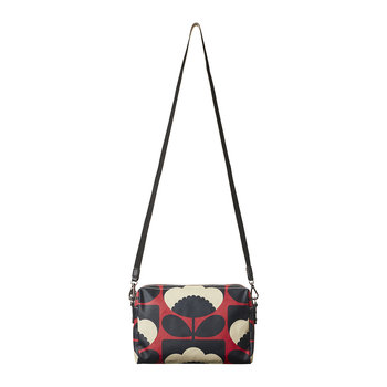 Laminated Spring Bloom Cross Body Bag - Poppy