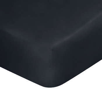 Satin Fitted Sheet - Super King - Navy