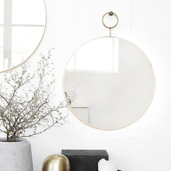 Loop Mirror - Brass