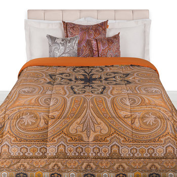 Cinisi Quilted Bedspread - 270x270cm - Brown