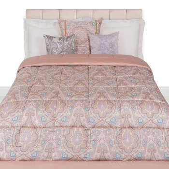 Domont Quilted Bedspread - 270x270cm - Pink
