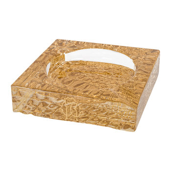 Crocodile Ashtray Notch - Clear/Gold