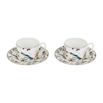 Garden's Birds Teetasse & Untertasse - 2er-Set - Luxusgeschenkbox